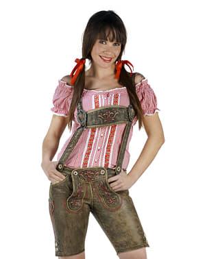 Pantalón lederhosen para mujer