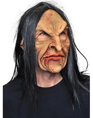 Masker van latex Heks met wratten