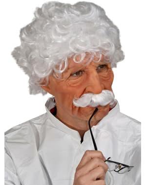 Latexová maska chytrák Einstein
