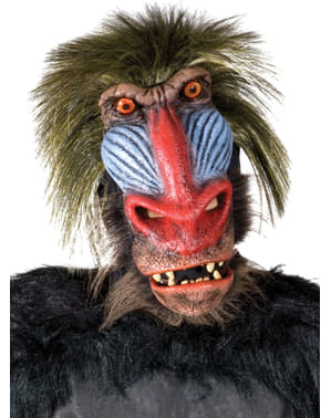 Grausamer Babuin Latex-Maske
