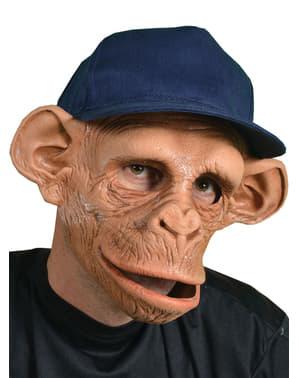 Maschera Chee-Chee Monkey con cappello in lattice