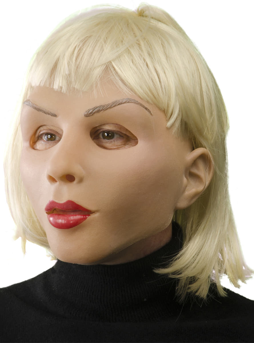 Blonde And Beautiful Girl Latex Mask The Coolest Funidelia