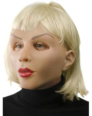 Máscara Blonde and Beautiful Girl em látex