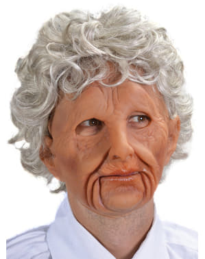 Стара жінка латекс маску