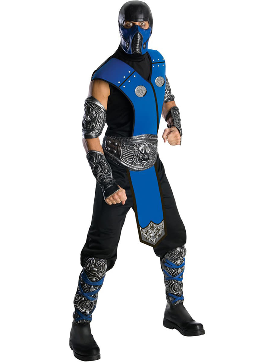 costume de subzero mortal kombat haut de gamme funidelia. Black Bedroom Furniture Sets. Home Design Ideas