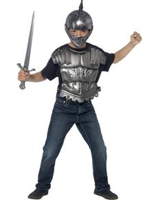 Kit disfraz caballero medieval para niño