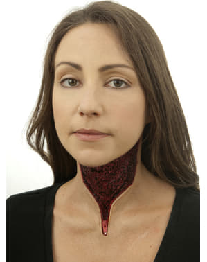 Latexová maska krk na zip