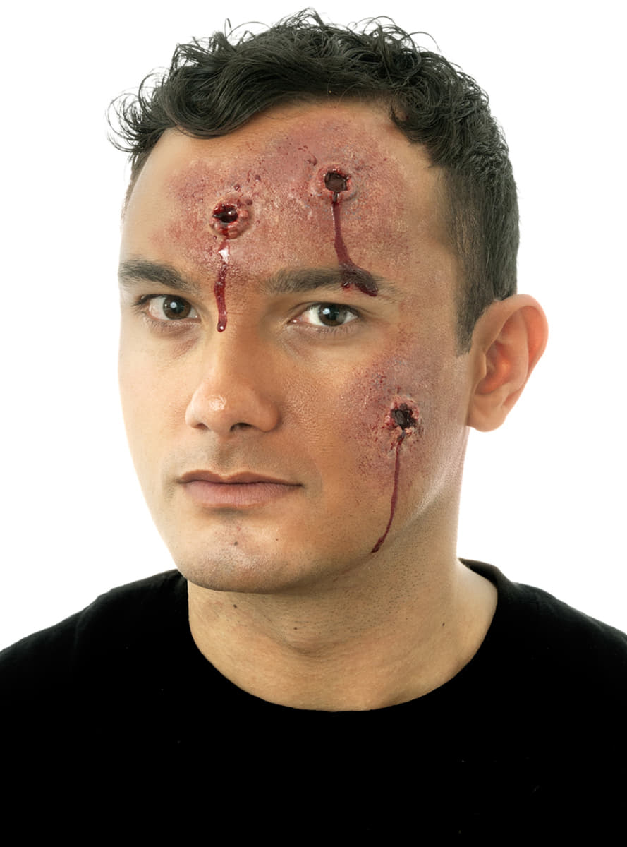 how to make a bullet wound with liquid latex