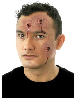 Protesi in lattice ferite da proiettile