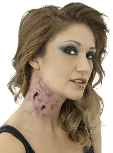 Prothèse latex baiser mortel