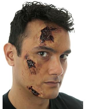 Prothèse latex blessures profondes