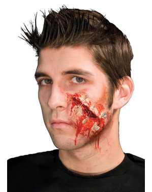 Offene Wunde mit Sicherheitsnadeln Latex-Prothese