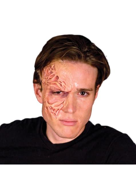 Prótesis de látex piel desfigurada