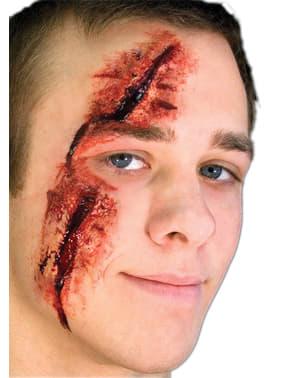 Prótesis de látex herida vertical