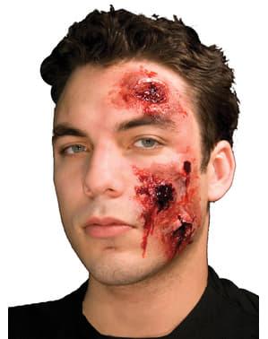 Latexová maska krvácející vředy