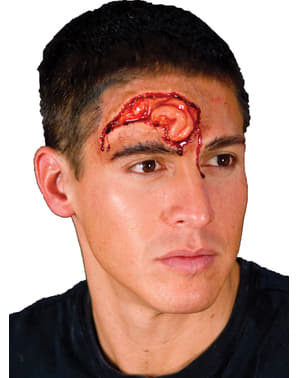 Prótesis de látex cerebro saliente