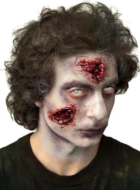 Prótesis de látex mordeduras de zombie