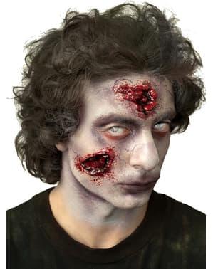 Prótese em látex mordidas de zombie