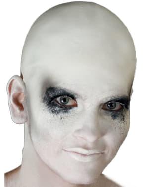 Crâne chauve blanc