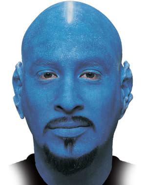 Kaal hoofd blauw