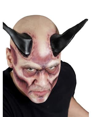 Mega zwarte duivelse latex hoorns