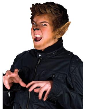 Prótesis de orejas de hombre lobo de látex