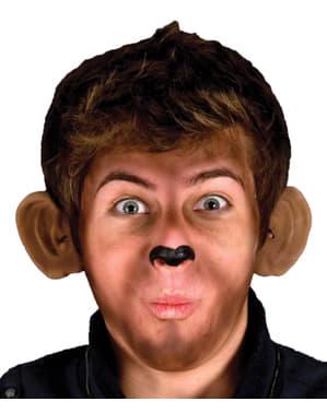 Uszy figlarna małpa lateks
