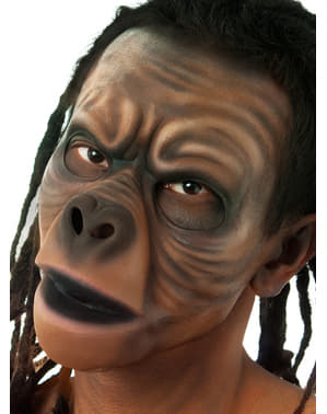 Prótesis de látex rostro de simio