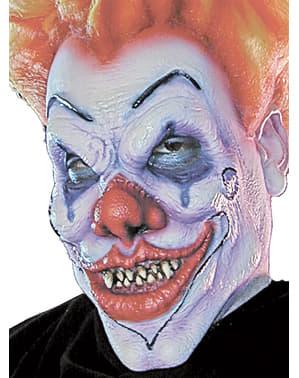 Prothèse mousse clown malveillant