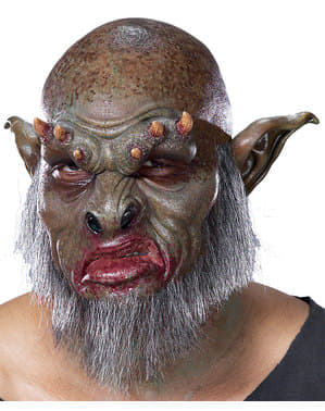 Bärtiger Zombie Schaumstoff-Prothese