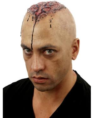 Zombie kaal hoofd met wond
