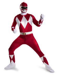Disfraz de Power Ranger Mighty Morphin rojo prestige para hombre