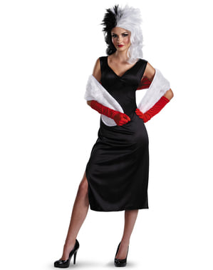 Cruella de Vil 101 Dalmatinere Kostyme Dame