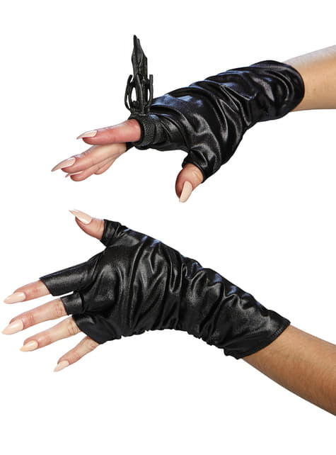 Womens Maleficent Gloves and Ring