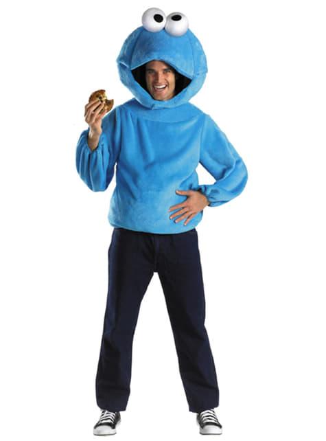 Disfraz de Monstruo de las Galletas Barrio Sésamo para adulto