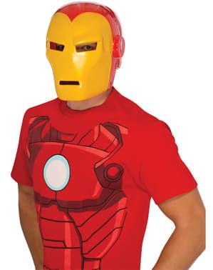 Máscara de Homem de Ferro Marvel deluxe para adulto