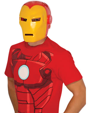 Máscara Iron Man Marvel deluxe para adulto