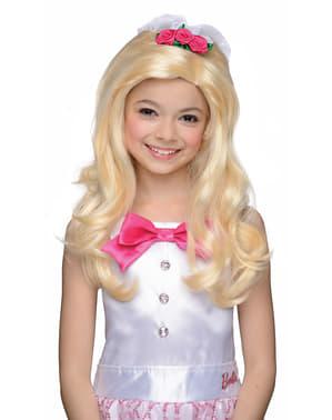 Perruque Barbie mariée fille
