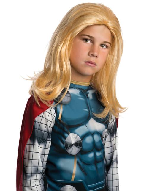 Peluca de Thor Marvel para niño