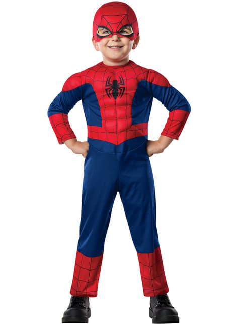 Gespierd kostuum Ultimate Spiderman voor jongens