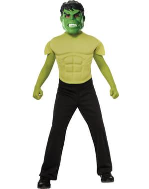 Kit disfraz de Hulk musculoso para niño