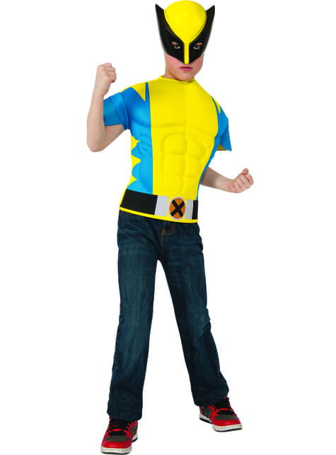Boys Muscular Wolverine Costume Kit