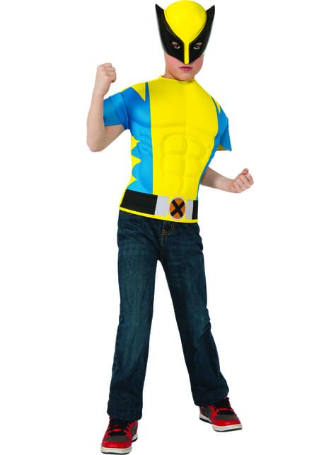 Kit disfraz de Lobezno musculoso para niño
