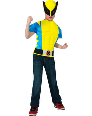 Kit costume Wolverine muscoloso bambino