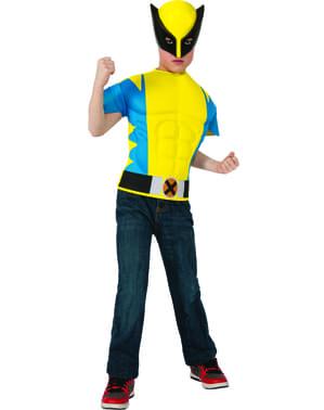 Kit fato de Wolverine musculoso para menino