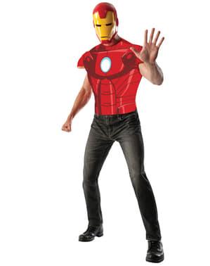Camisola de Homem de Ferro Marvel musculoso para adulto