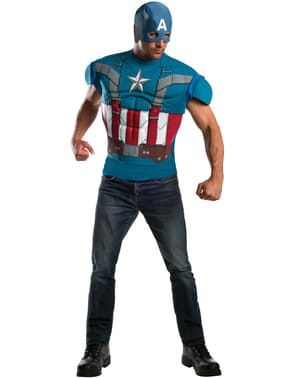 Captain America The Winter Soldier Captain America retro muscular costume for a man
