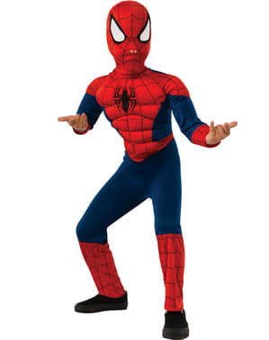 Spiderman Kostüm muskulös für Kinder