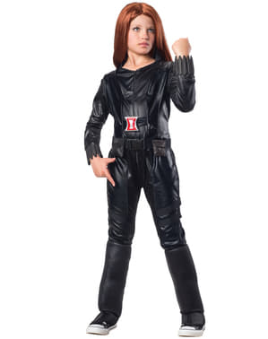 Captain America The Winter Soldier Black Widow deluxe costume for a girl