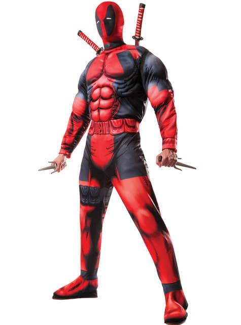 Fato de Deadpool deluxe Marvel para homem
